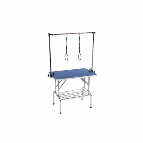 "main image of ""Oypla 35"" Heavy Duty Folding Dog Grooming Table Adjustable Portable"""