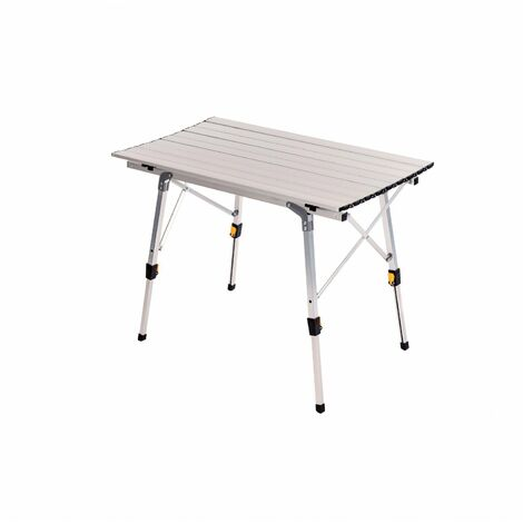 Oypla 3ft Adjustable Portable Folding Outdoor Aluminium Camping Kitchen Work Top Table