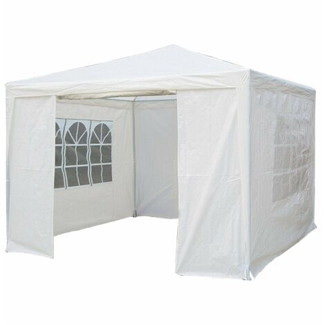 "main image of ""Oypla 3m x 3m White Waterproof Garden Gazebo Marquee Awning Tent"""