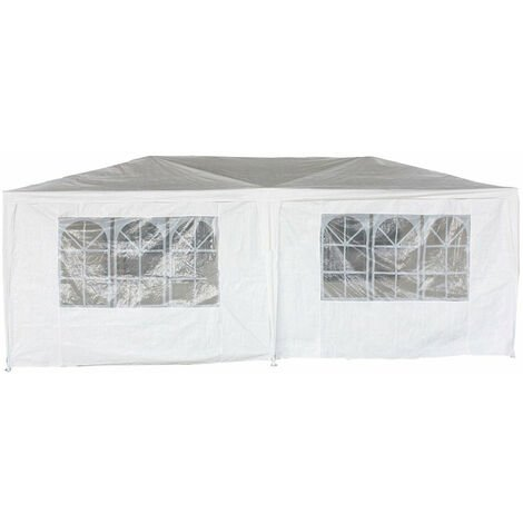 """main image of """"Oypla 3m x 6m White Waterproof Garden Gazebo Marquee Awning Party Tent"""""""