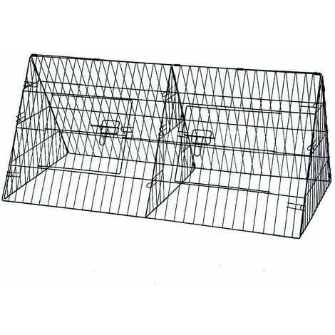 "main image of ""Oypla 48"" Metal Triangle Rabbit Guinea Pig Pet Hutch Run Cage Playpen"""