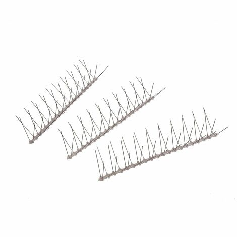 Oypla 5m Steel Bird Spikes Pigeon Cat Deterrent Security Fence Wall Roof