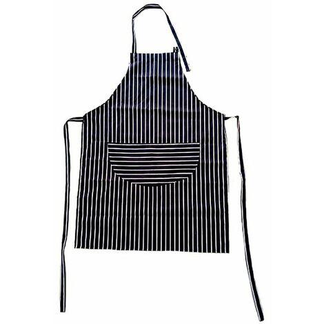 Oypla Adult Cotton Blue & White Butcher Stripe Chefs Apron with Pockets