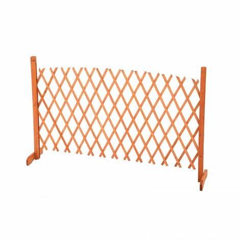 Oypla Arched Expanding Freestanding Wooden Trellis Fence Garden Screen