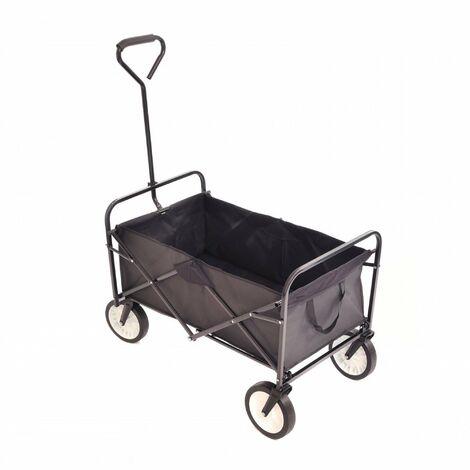 "main image of ""Oypla Black Heavy Duty Foldable Garden Trolley Folding Cart Wagon Truck Wheelbarrow"""