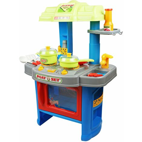 Oypla Childrens Kids Girls Roleplay Electronic Kitchen Cooking Playset