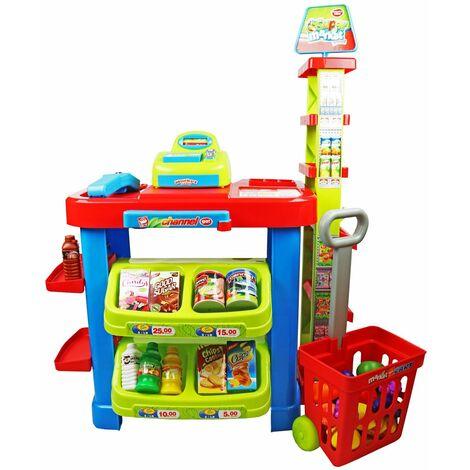 Oypla Childrens Kids Supermarket Shop Grocery Pretend Toy Kitchen Playset