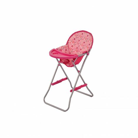 Oypla Childrens Toy Baby Doll Folding Highchair with Removable Tray