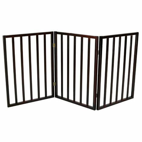 Oypla Dog Safety Folding Wooden Pet Gate Portable Indoor Barrier