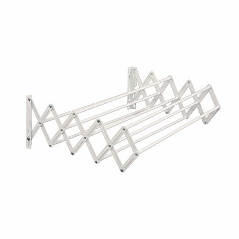 Oypla Extendable Wall Mounted Clothes Horse Airer Dryer Drying Rack