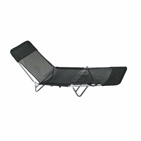 "main image of ""Oypla Folding Reclining Sun Lounger Beach Garden Camping Bed Chair"""