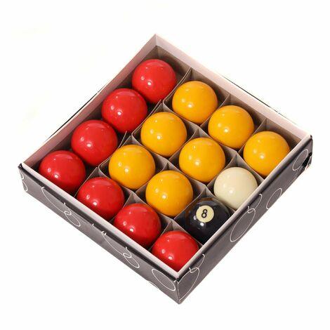 "Oypla Full Size UK Regulation 16 Red and Yellow Pool Ball Set 2"""