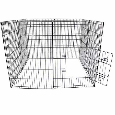Oypla Large Folding Pet Dog Rabbit Run Play Pen Cage Enclosure Fence