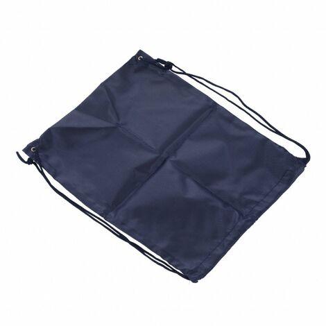 Oypla Oxford Cloth Sports School PE Black Laundry Drawstring Bag