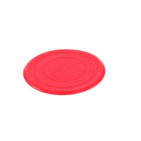 Oypla Red Dog Puppy Rubber Training Throw Toy Frisbee Disc