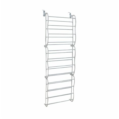 Oypla White 12 Tier Door Hanging Shoe Rack Organiser - Holds 72 Shoes