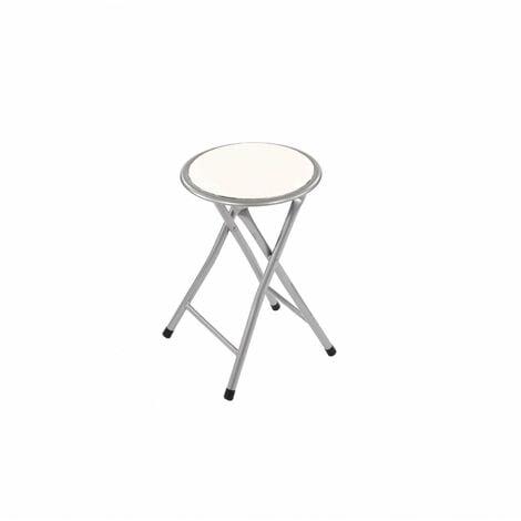 Oypla White Padded Folding Breakfast Kitchen Bar Stool Seat