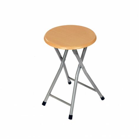 Oypla Wooden Folding Breakfast Kitchen Bar Stool Seat