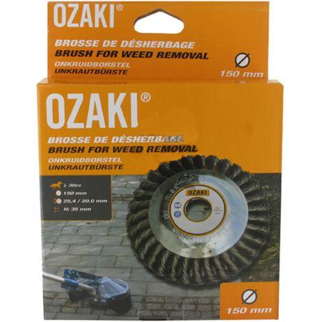 Ozaki Brosse anti mauvaises herbes (Ø 150 mm, H 35 mm, alésage 20 / 25.4 mm)