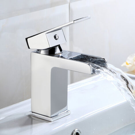 Ozone Waterfall Cloakroom Basin Mono Mixer & Waste