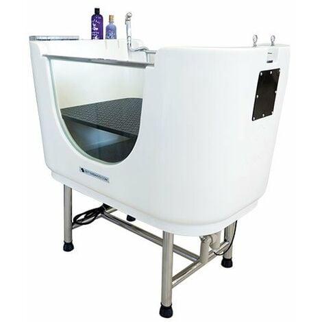 Ozonoterapia & Spa Ibáñez Pet Wellness, para peluquería canina, con base elevadora para aclarado, color blanco