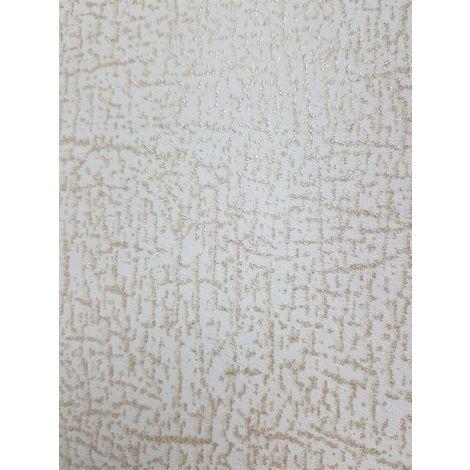 P+S Plain Off White/ Gold Glitter Wallpaper