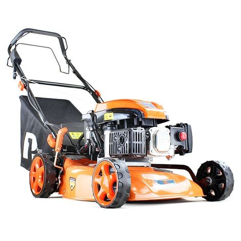 "P1PE Hyundai Engine Electric Key Start Lawnmower Self Propelled 18"" 46cm 460mm 139cc Petrol Lawn Mower P4600SPE"