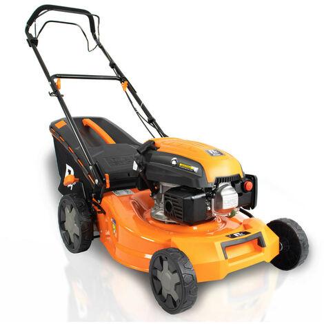 "P1PE Hyundai Engine Self Propelled Petrol Lawnmower 18"" 46cm 460mm 139cc Lawn Mower Plus Free 600ml Oil 2 YEAR WARRANTY P4600SP"