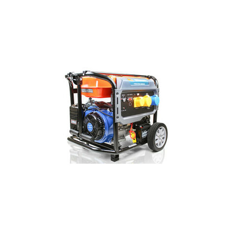 P1PE P10000LE 7.9kW / 9.8kVA* Recoil and Electric Start Site Petrol Generator (Powered by Hyundai)