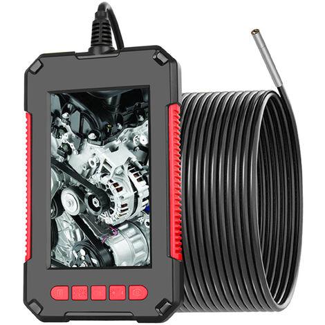 P40 Industrial endoscopio endoscopio Inspeccion de la camara, la lente 3.9mm, con 4,3 pulgadas 1080P Pantalla, Rojo, 5m cable rigido