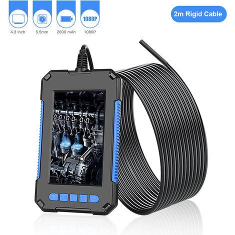 P40 Industrial endoscopio endoscopio Inspeccion de la camara, la lente de 5,5 mm, con 4,3 pulgadas 1080P Pantalla, azul, 2m cable rigido