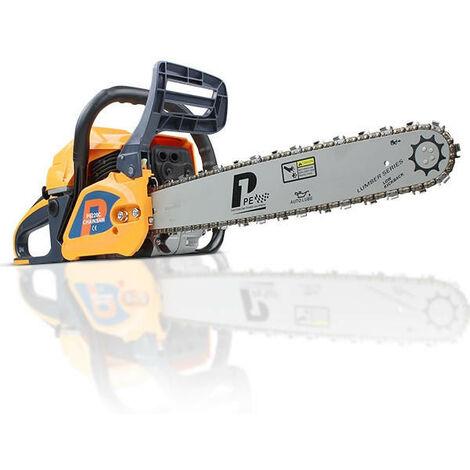 """P6220C Hyundai 62cc Petrol Chainsaw 20"""" Bar Easy Start Includes 2 Chains & Bag"""