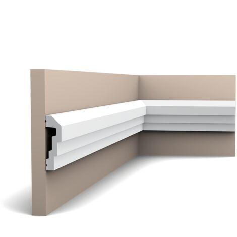P7070F Flexible Cimaise murale Orac Decor - 7,5x2x200cm (h x p x L) - moulure décorative polyuréthane - rigide ou flexible : flexible - conditionnement : A l'unité