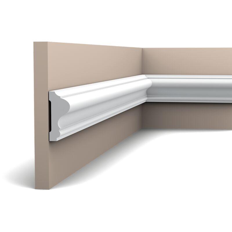 Corniche Polystyrène Pour Led p8020f flexible cimaise polyuréthane orac decor luxxus - 6x2,5cm (h x p) -  rigideouflexible : flexible - conditionnement : a l'unité