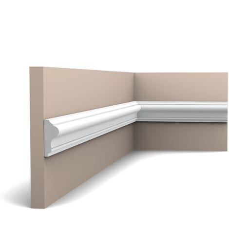 P8030F Flexible Cimaise murale Orac Decor - 4x1,5x200cm (h x p x L) - moulure décorative polyuréthane - rigide ou flexible : flexible - conditionnement : A l'unité