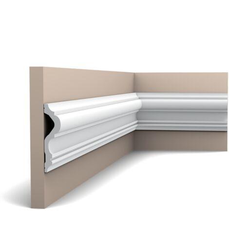 P8050F Flexible Cimaise murale Orac Decor - 12x3x200cm (h x p x L) - moulure décorative polyuréthane - rigide ou flexible : flexible - conditionnement : A l'unité