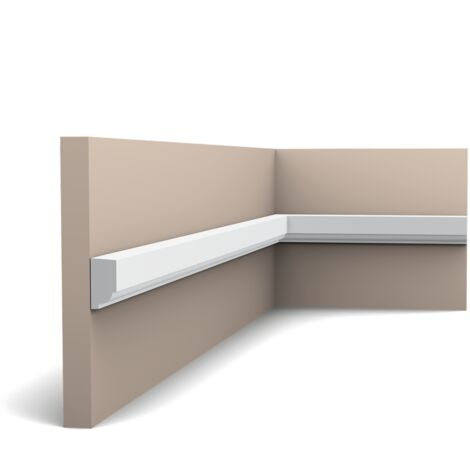P9050F Flexible Cimaise murale Orac Decor - 2,5x1,5x200cm (h x p x L) - moulure décorative polyuréthane - rigide ou flexible : flexible - conditionnement : A l'unité