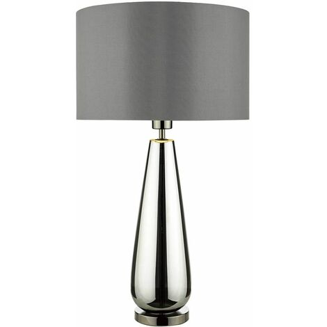 Pablo black and smoked chrome table lamp 1 light