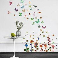 Pacchetto adesivi da parete motivo: fiori walplus ws9015/ xy8040/ ws3013