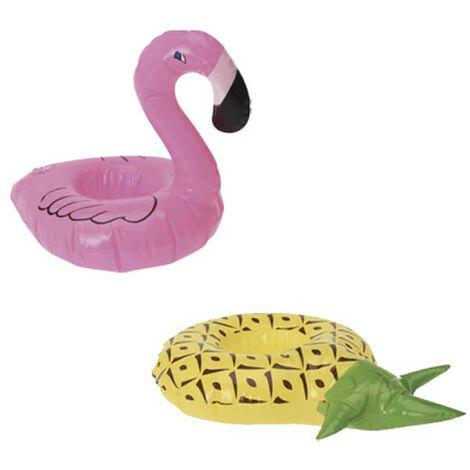 Pacchetto portabicchieri galleggianti modello fenicottero rosa - Pacchetto portabicchieri galleggianti modello ananas