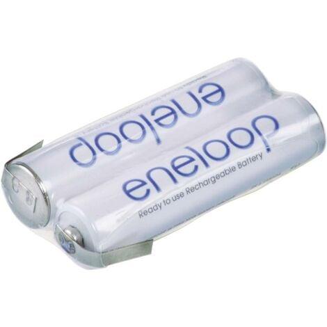 "main image of ""Pacco batteria 2x Ministilo (AAA) Panasonic eneloop Reihe F1x2 linguette a saldare a Z NiMH 2.4 V 750 mAh"""