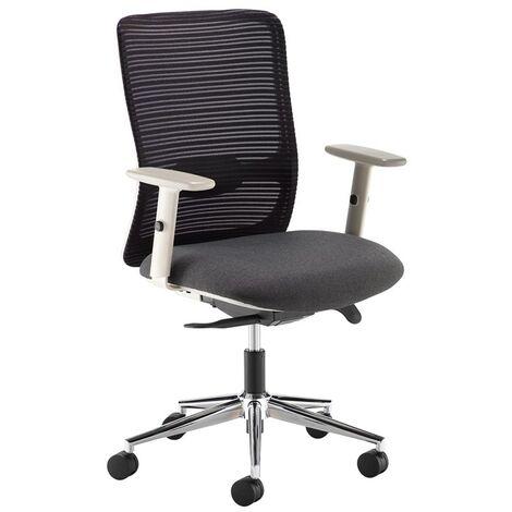 Pacifica black mesh operator chair black fabric grey frame chrome base