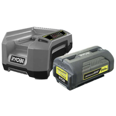 Pack 1 batterie RYOBI 36V OnePlus 4.0Ah LithiumPlus - 1 chargeur rapide 5.0Ah RBPK3640D5A