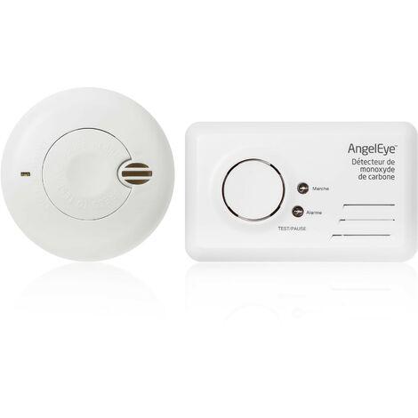 Pack 1 Détecteur de monoxyde de Carbone ACCESS Garantie 7 ans + 1 détecteur NF garantie 5 ans offert - AngelEye
