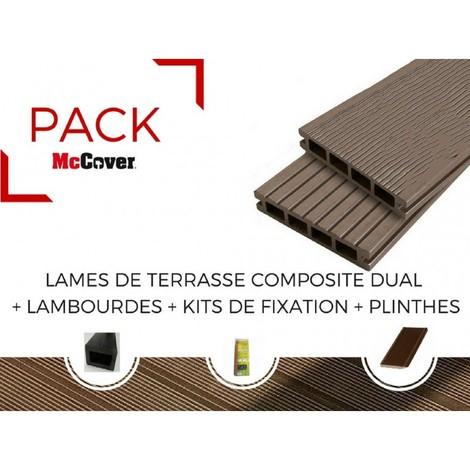 PACK 1 m² lame de terrasse composite Dual ACCESSOIRES (4 coloris) 3600mm