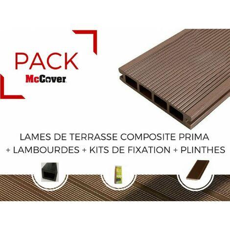 Surréaliste PACK 1 m² lame de terrasse composite Prima ACCESSOIRES (3 coloris EJ-37