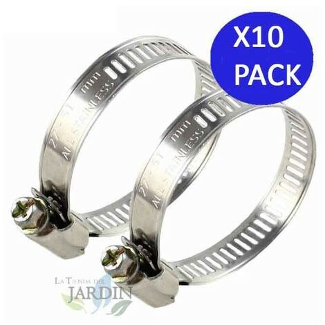 Pack 10 Abrazadera metálica para tubos de 156mm. Recomendado para mangueras Layflat