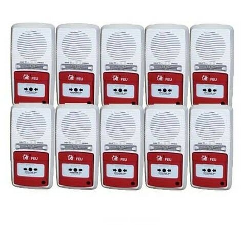 Pack 10 Alarmes Type 4 Autonome À Pile