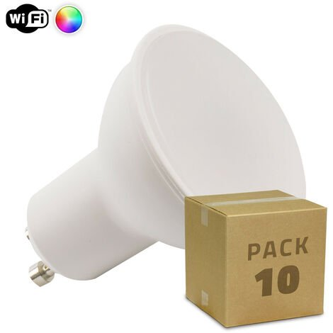 Pack 10 Ampoules LED Smart WiFi GU10 Dimmable RGBW 4W RGBW - RGBW