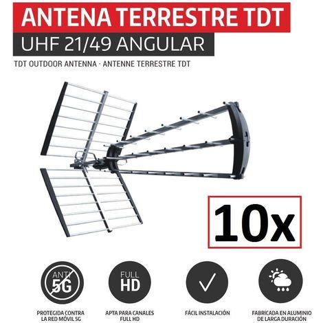 Pack 10 Antenas TDT HD 5G